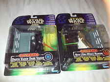 STAR WARS FORCE FX DARTH VADER & OBI WAN FIGURES
