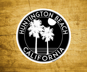 Huntington-Beach-California-Decal-Sticker-3-034-Surfing-Pacific-Ocean-Surf