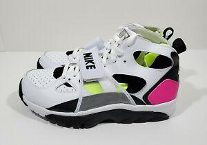 Literatura Cartero excepto por  Nike Air Trainer Huarache Retro Mens Training Shoes White Black Size 8 |  eBay