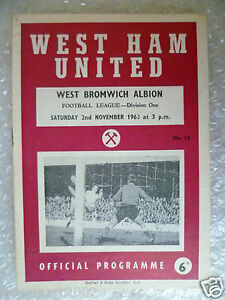 1963-WEST-HAM-UNITED-v-WEST-BROMWICH-ALBION-2nd-Nov-League-Division-One