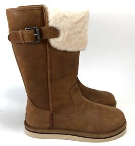 Details Ugg Water Boots Women's Wilowe Chestnut Size Leather About 678 Resistant sQCthrdx