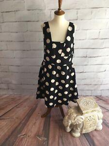 NWT-Ann-Taylor-LOFT-Polka-Dot-Dress-Cute-Casual-Women-s-12-Large-L-E07