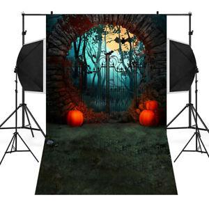 Details About Halloween Backdrops Vinyl 3x5ft Fireplace Background Photography Studio Scenes U