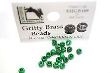 Gritty Brass Beads Ø 3,8mm Hareline 20 St. esibisce OTTONE beads Green Grit