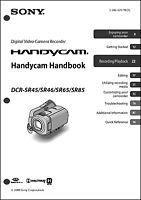 Sony Dcr-sr45 Dcr-sr46 Dcr-sx65 Dcr-sr85 Handycam User Instruction Guide Manual