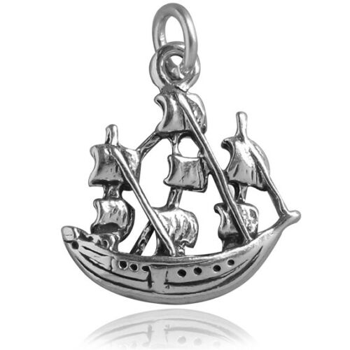 Sailing Ship Charm Sterling Silver .925 Clipper Nautical Jamestown