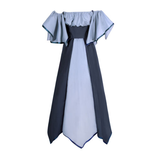Women/'s Medieval Renaissance Off Shoulder Dress Halloween Party Cosplay Costumes