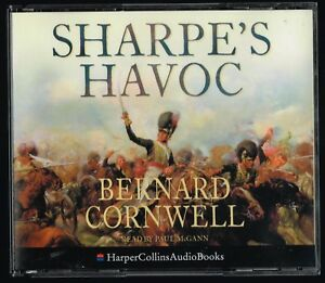 AUDIO-BOOK-Bernard-Cornwell-SHARPE-039-S-HAVOC-read-by-Paul-McGann-on-3-x-CDs