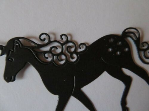 Die Cut outs UNICORN Silhouette Cardmaking Fairy Jars,
