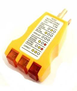 Details about New Electrical Outlet Receptacle Tester Faulty Wire Finder on