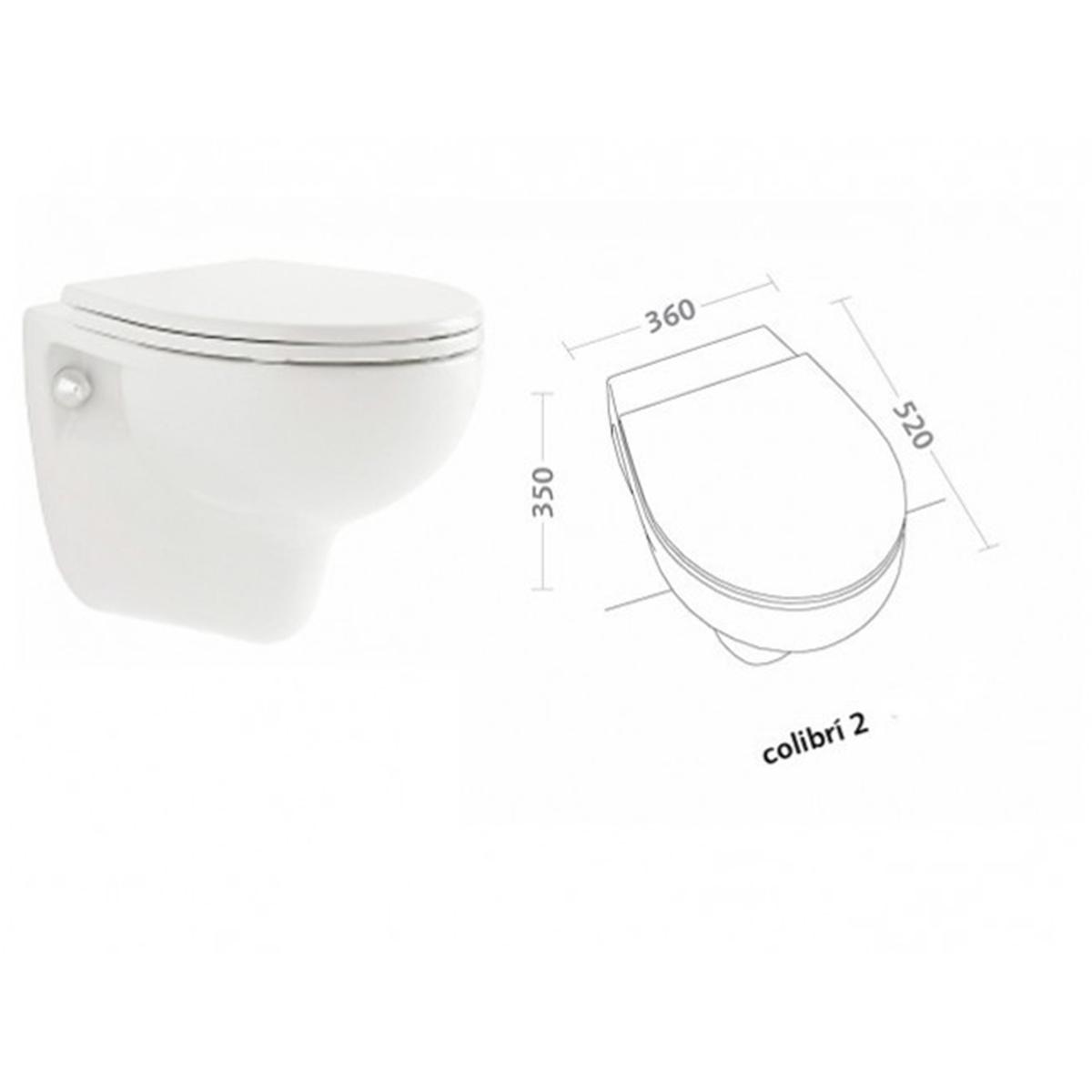 Pozzi Ginori Colibrì 2 Sanitari Sospesi  Vaso WC Sospeso Con Sedile Soft Close