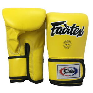 Image Is Loading Fairtex Bag Gloves Tgt7 Yellow Black Piping Size
