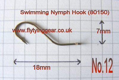 No.8 Bronzed, Type 80050 100 x Streamer Fly Hook