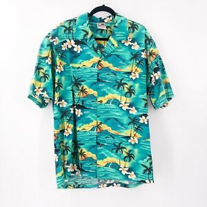 Original-Hawaiian-Togs-Mens-XL-Button-Up-Floral-Shirt-Cotton-Made-In-Hawaii