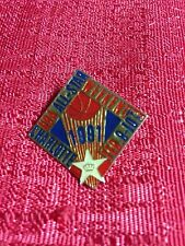 1991 NBA All Star Game Charlotte Collectors Logo Vintage Pin