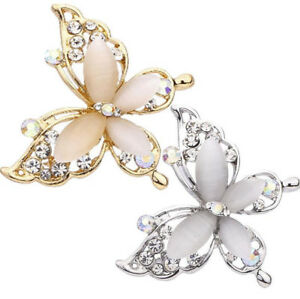 8696417e2 Image is loading 1PC-Charming-Gold-Silver-Brooches-Fashion-Butterfly-Brooch-