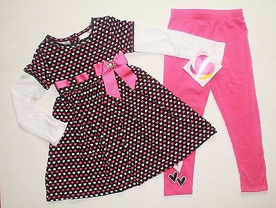 Youngland Girls Little Tunic with Necklace and Legging Outfit
