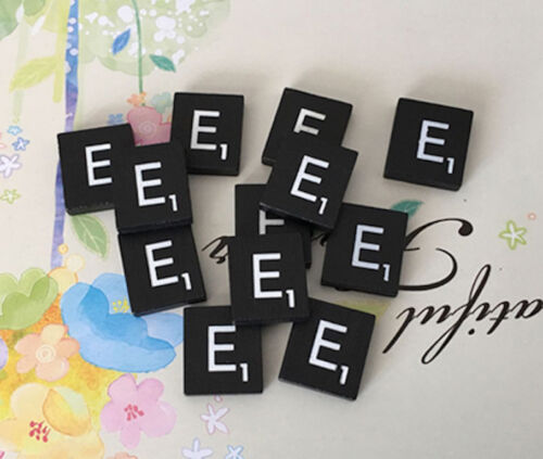 10 Individual TEN Black  Scrabble Tiles Letters A to Z in Stock! Letter E