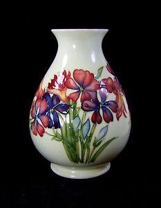 Moorcroft Spring Flowers Vase Made In England Ebay