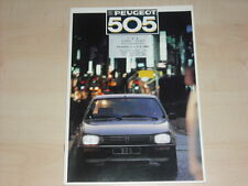 60564) Peugeot 505 Prospekt 1987