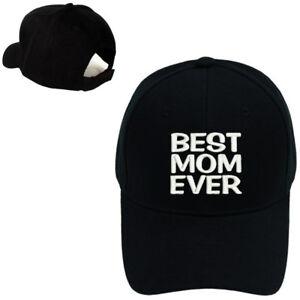 6bf56fde59625 MOTHER S DAY BEST MOM EVER EMBROIDERED BASEBALL CAP BLACK ADJUSTABLE ...