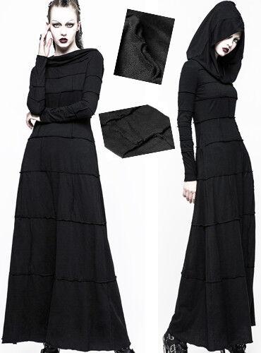Robe longue capuche gothique punk lolita fashion coutures mystique dark Punkrave