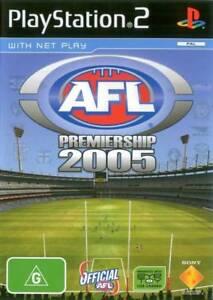 AFL Premiership 2005 PS2 Game USED 711719149811
