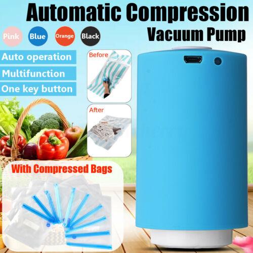 USB Mini Portable Automatic Electric Compression Vacuum Pump Household Bags