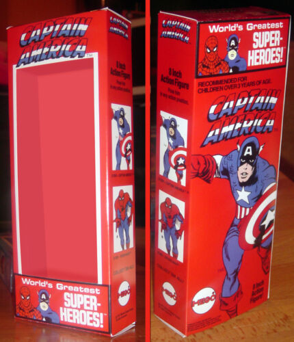 """MEGO 8/"""" CAPTAIN AMERICA BOX ONLY"""
