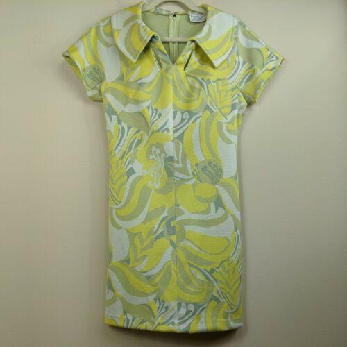 Vintage Norman Wiatt Knits Dress Shift Mod Short S