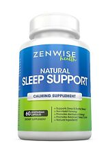 All Natural Sleeping Aid Nighttime Sleep Support Supplement With 100 MG 5
