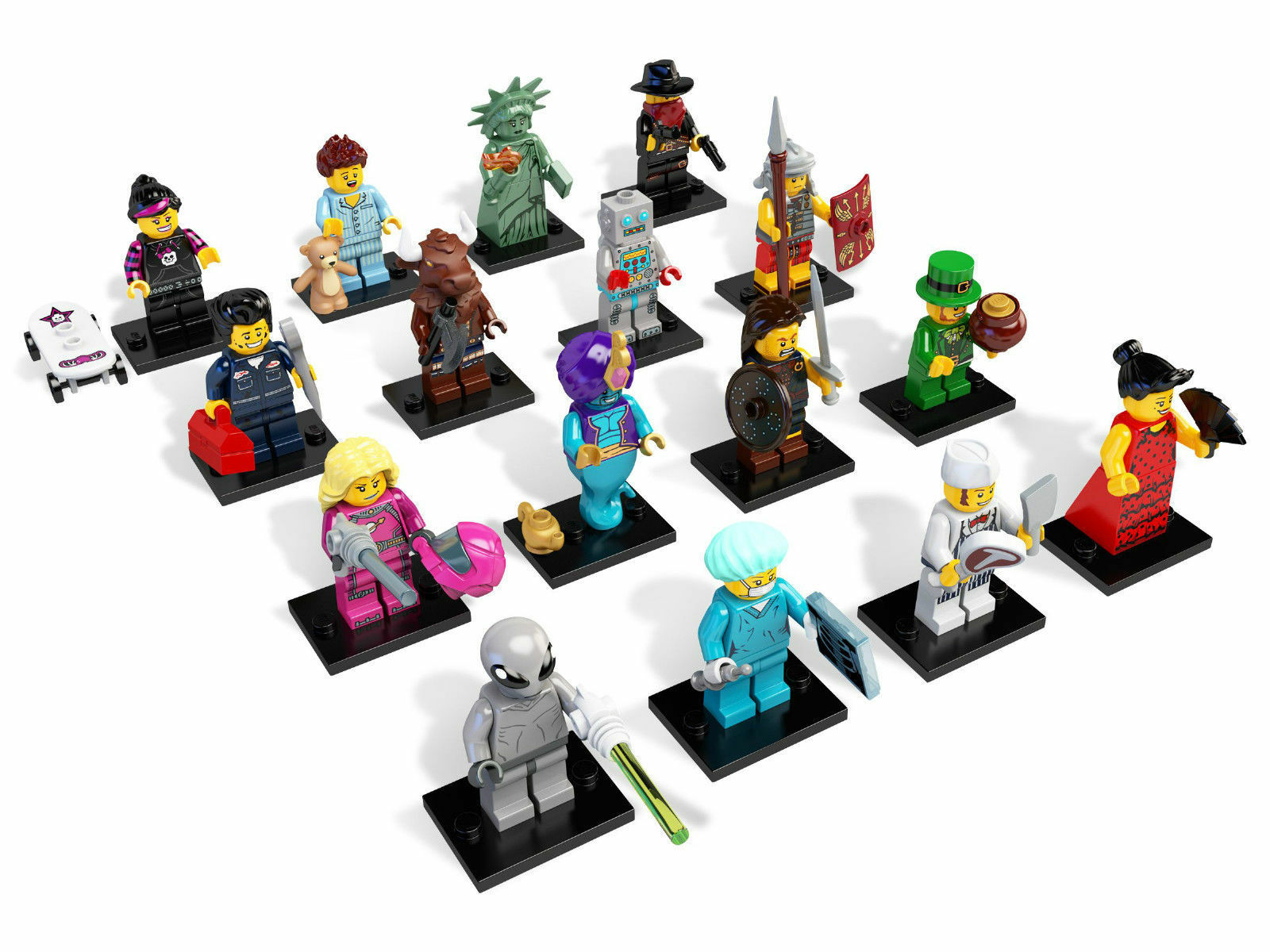 Lego Minifiguren Serie 6 8827 Komplett - Complete Series Series Series 6 6f73ba