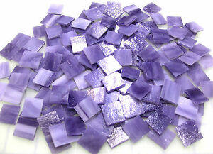 "110 Mosaic Tiles 1/2"" PURPLE PLEASING Kokomo Opal Stained Glass"