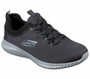 Skechers-Mens-Elite-Flex-Belburn-Memory-Foam-Air-Cool-Bungee-Slip-On-Shoes-52529