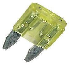 10 x Mini Blade Fuses 20A 20 Amp 11mm x 15mm o//e spec fits VAUXHALL