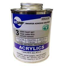 Weld On 3 Acrylic Adhesive Pint 16oz