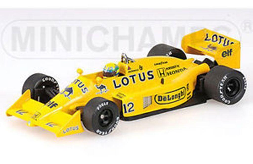 Minichamps ayrton senna modèle voitures de course lotus mclaren williams penske kart 1 43