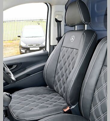 Mercedes Vito 2 x Fronts Luxury GREY and BLACK Van Seat Covers