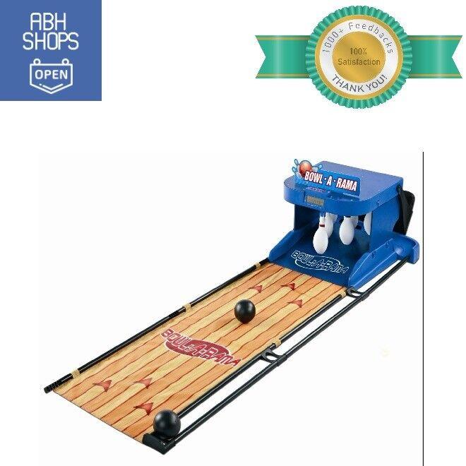 Portable Bowling Alley Set Bowl -A -Rama Inoor Outdoor Arcade spel for ungar blå
