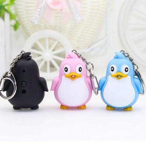 Kids Toy Gift Creative Penguin Shape LED Toys with Sound Mini Torch Flashlight