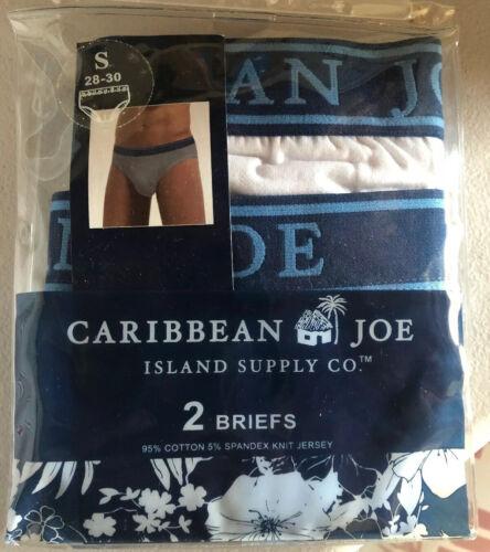 Caribbean Joe Briefs 2 Paires Hommes Sous-vêtements bleu//gris 2 Pack Coton Taille S