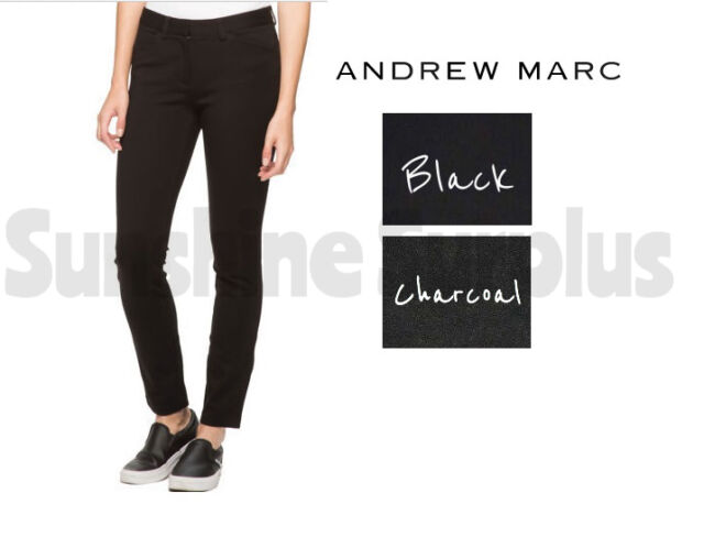 Andrew Marc Women/'s Ponte Stretch Pant VARIETY! Semi Fitted Tapered Leg