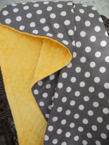 Supersoft Dimple DOT Cuddle Soft Fleece Plush Fabric HOT YELLOW 59//150cm wide