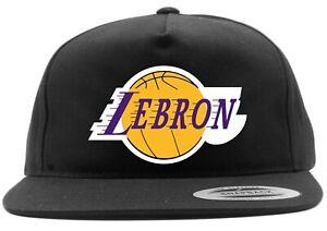 Black Lebron James Los Angeles Lakers King Logo Snapback ...