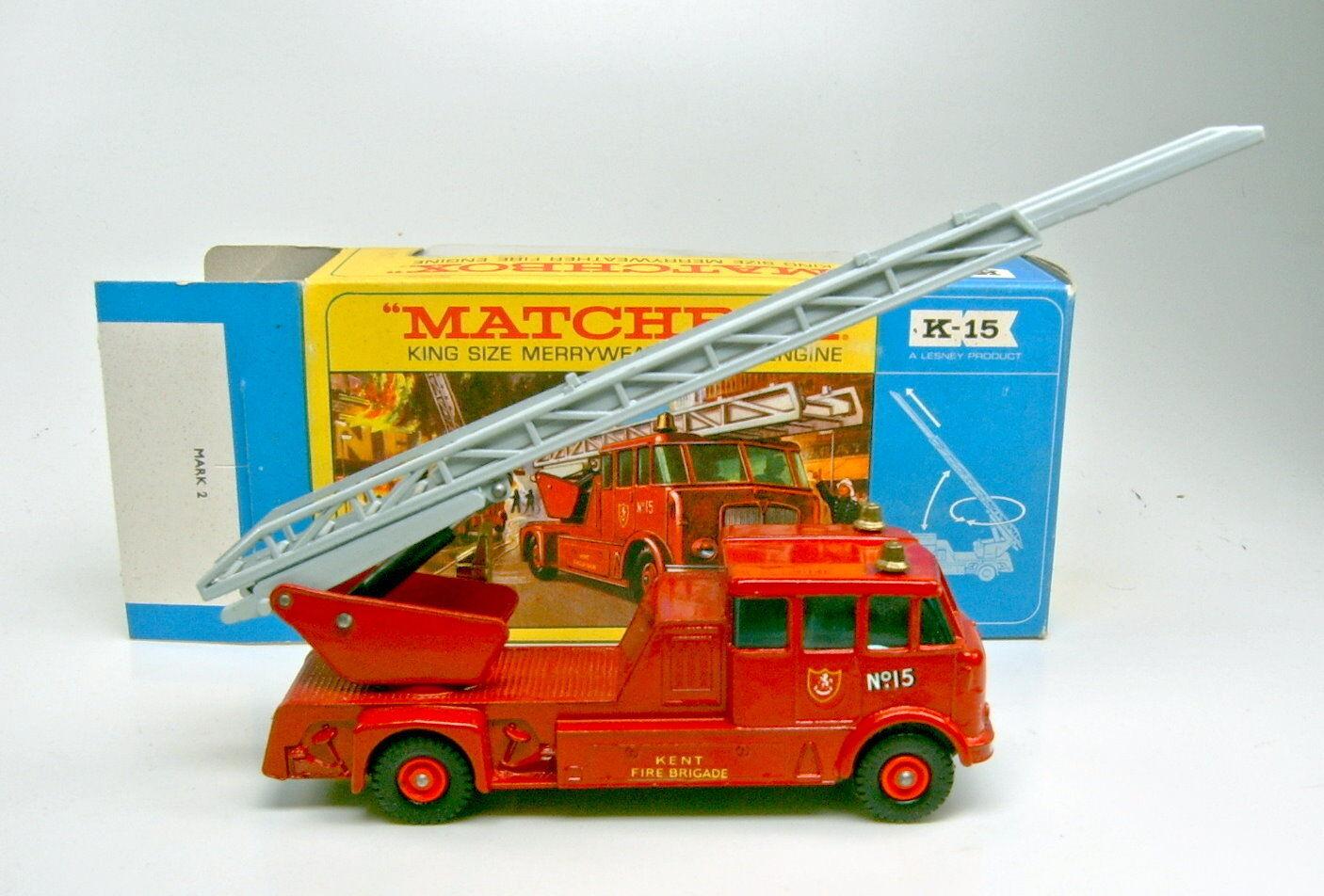 Matchbox KingGröße K-15 Merryweather Fire Engine top mit Blisterbox  | Verpackungsvielfalt