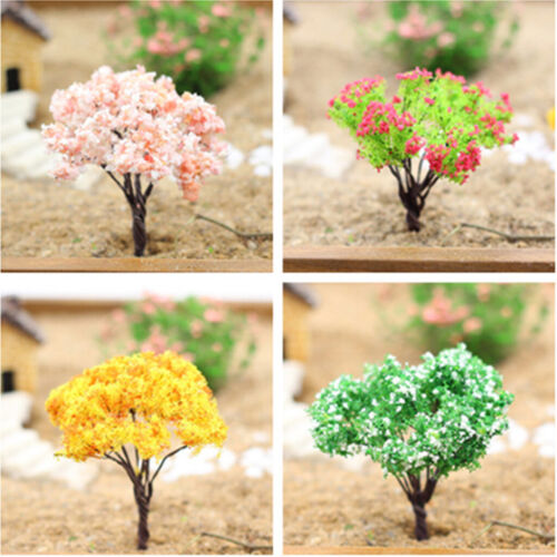 4pcs//lot Miniature Tree Plants Fairy Garden Decoration Craft Model Dollhouse