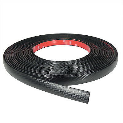Black Carbon Fiber Car Auto Accessory Body Trim Molding Made in USA 12/' DIY Kit