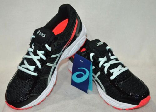 GS ASICS Girl/'s GEL-Contend 4 Black//Soothing Sea Running Shoes-Sz 4//5//6//7 NWB