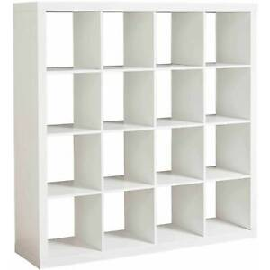 Image Is Loading Storage Cube Organizer 16 Cubbies Shelves Solid White