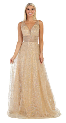FORMAL RED CARPET SPECIAL OCCASION PROM GOWN PAGEANT SLEEVELESS  EVENING DRESSES